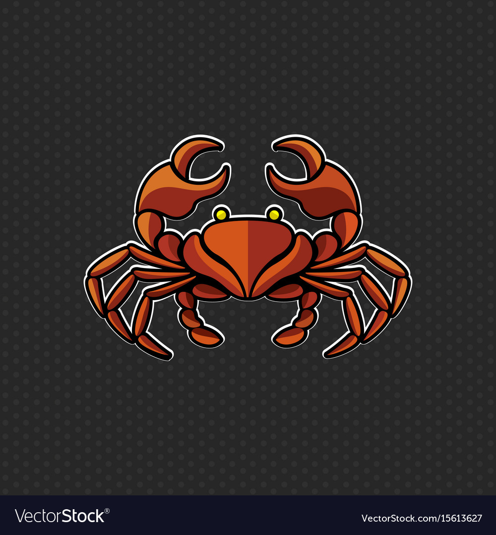 Crab logo design template crab head icon