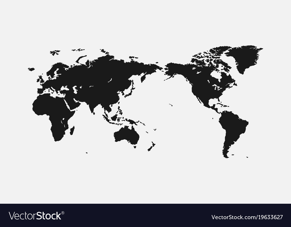 Flat World Map Vector.Flat World Map For Interior Design Advertising Vector Image