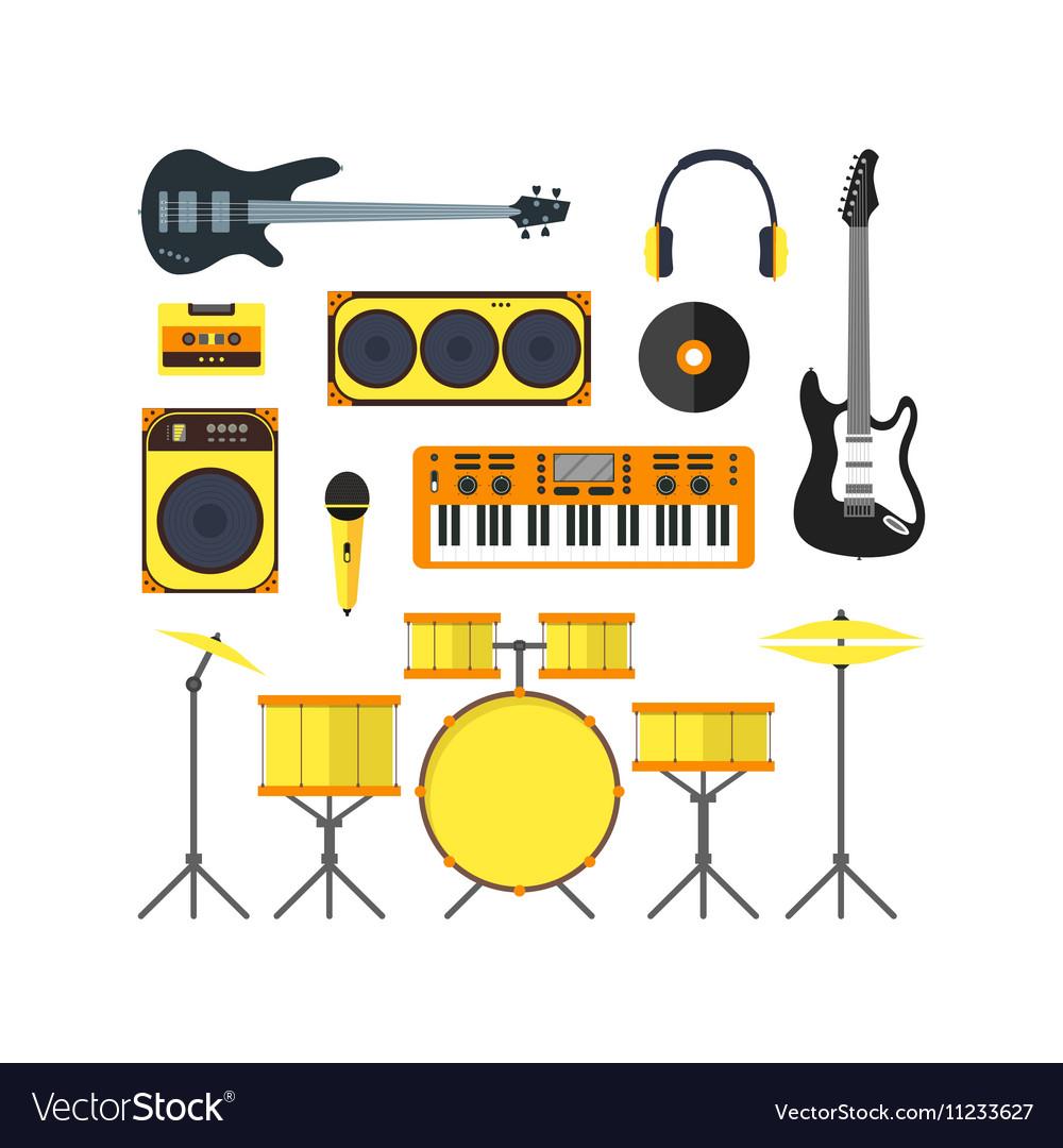 Musical Instruments Set Flat