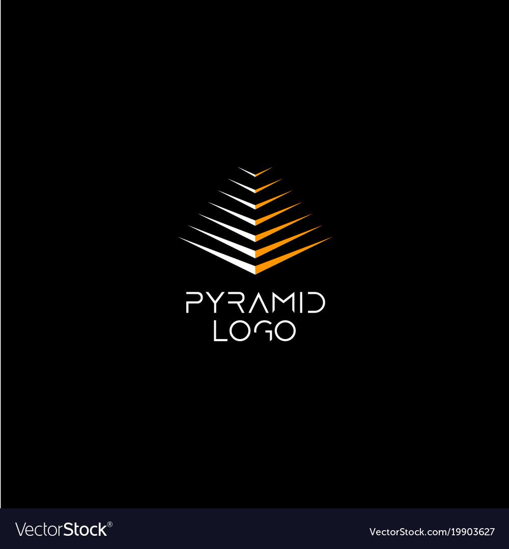 Pyramid logo concept