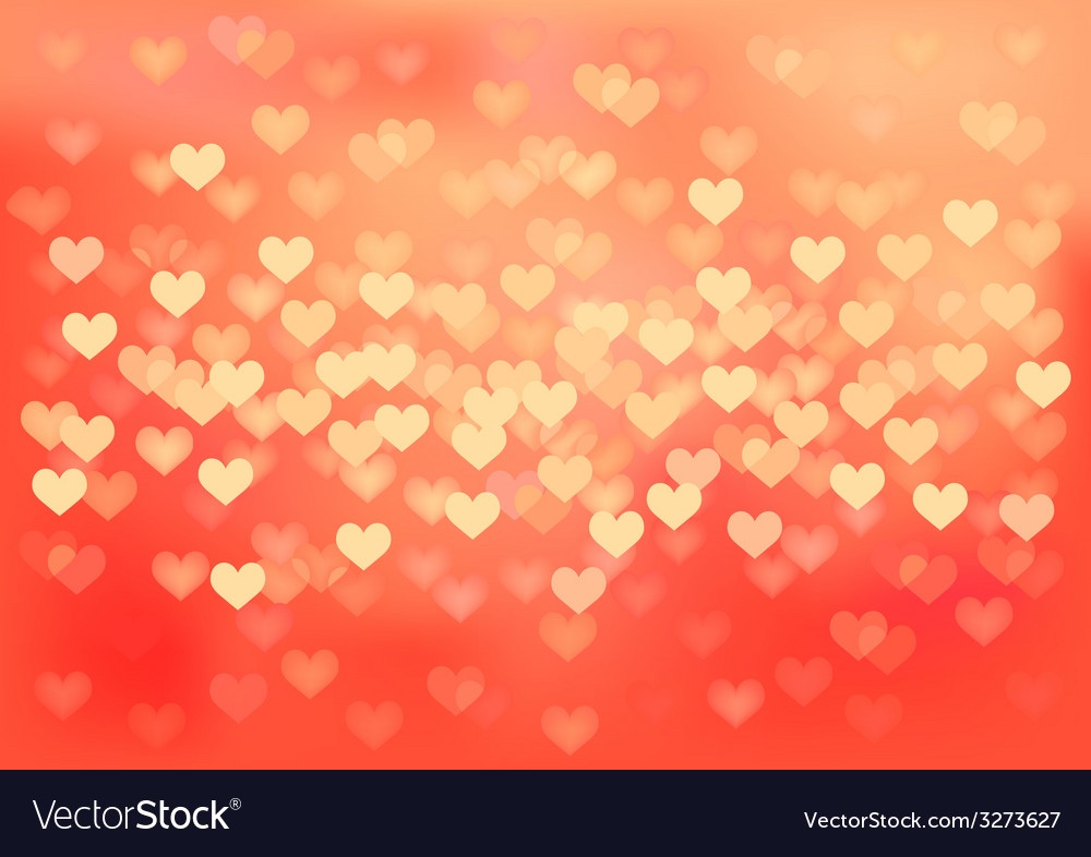 Red festive lights in heart shape background