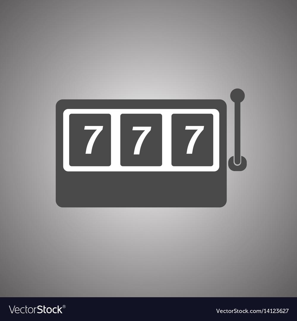 Slot machine icon slot machine with three 7