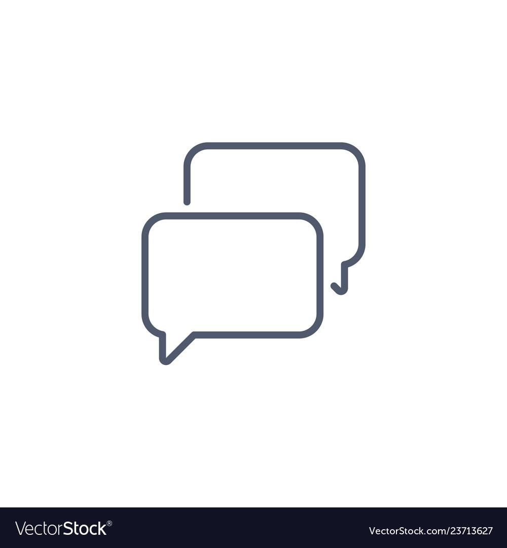 Speech bubble chat icon linear style minimalism