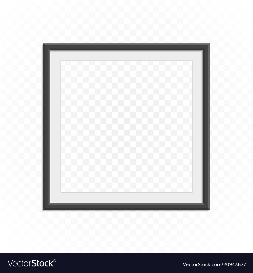 Square photo frame template vector image