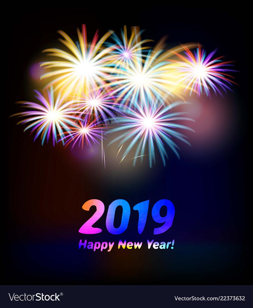 2019 happy new year Royalty Free Vector Image - VectorStock