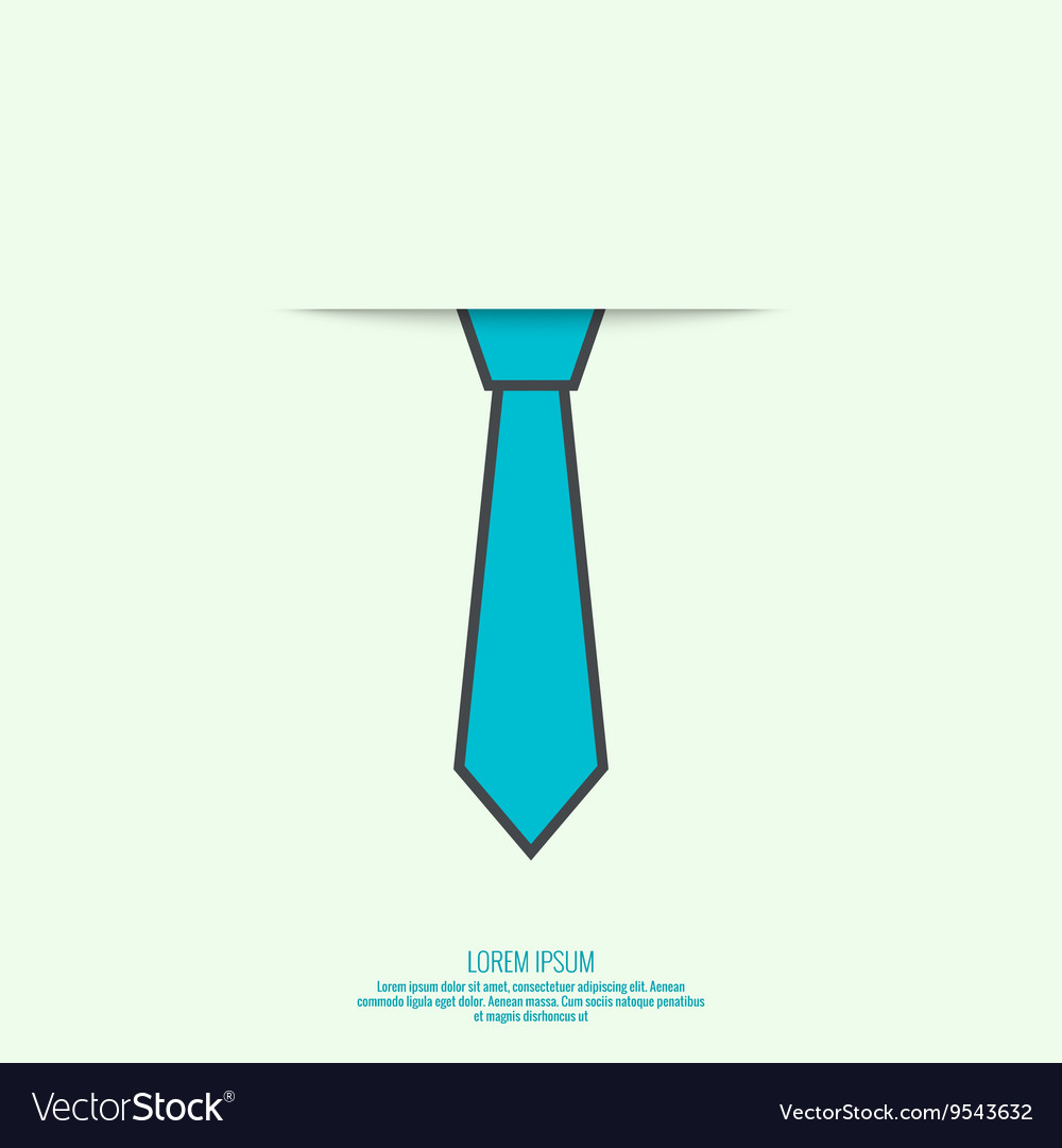 Abstract background with men tie vector image