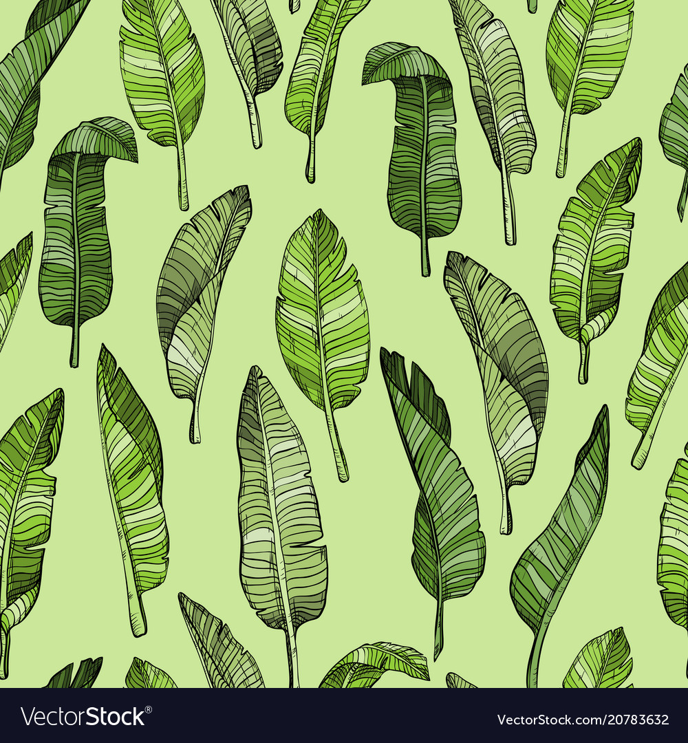 Abstract seamless leaves pattern