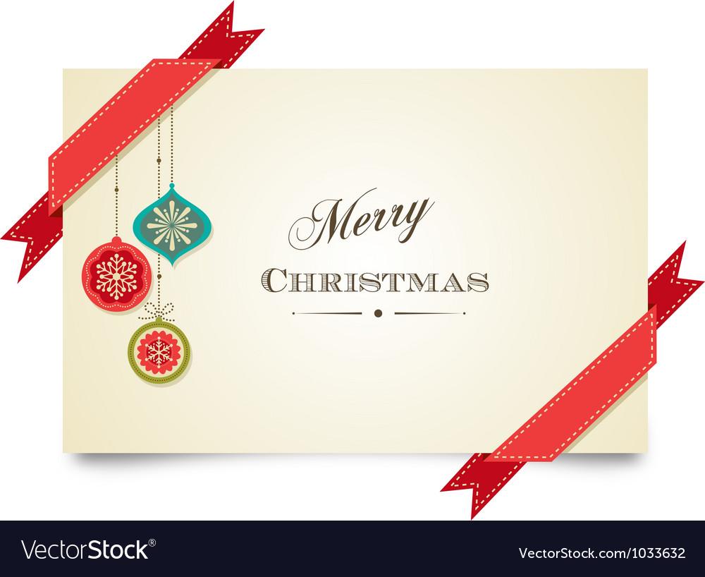 Christmas vintage greeting card