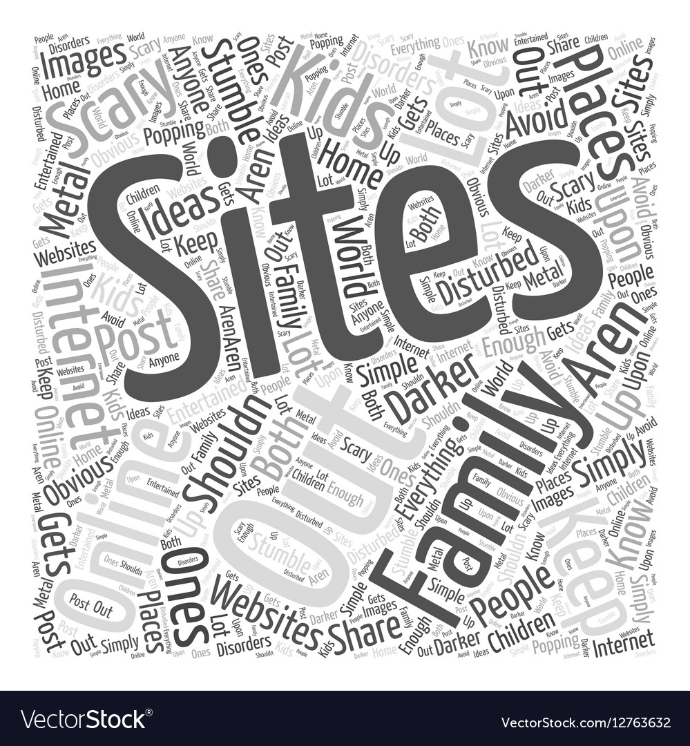 Family sites Word Cloud Concept