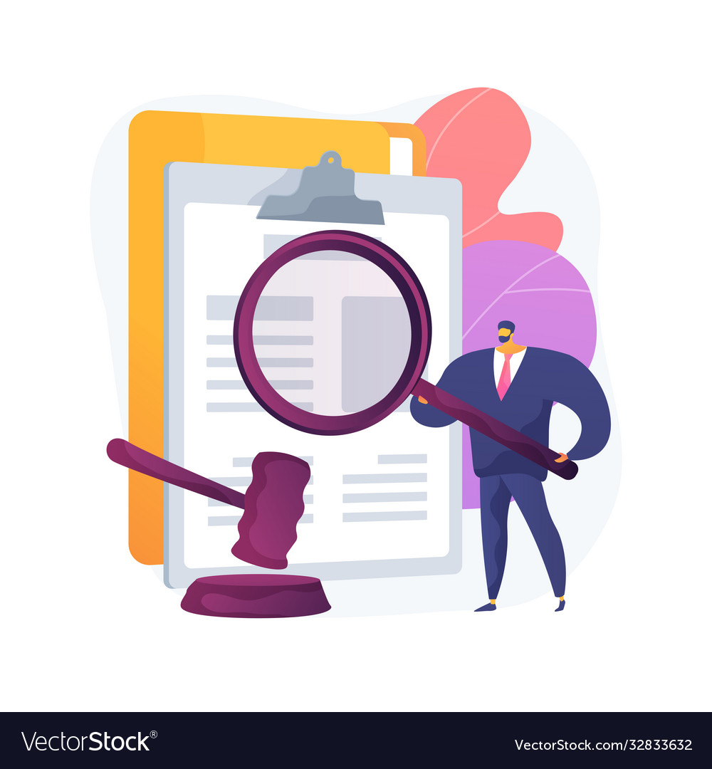Legal research abstract concept