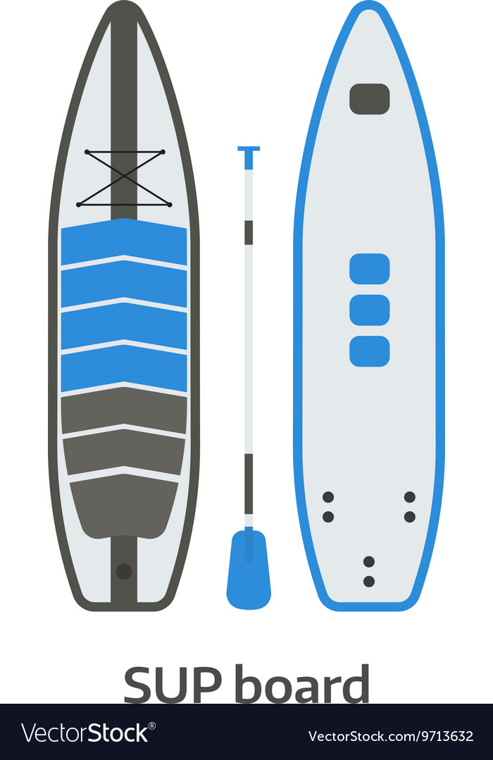 SUP Board and Paddle Set vector image