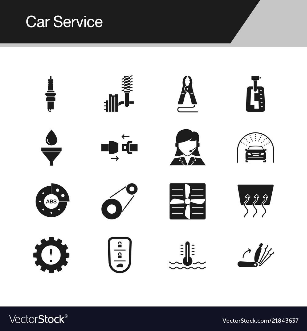 Car service icons design for presentation graphic