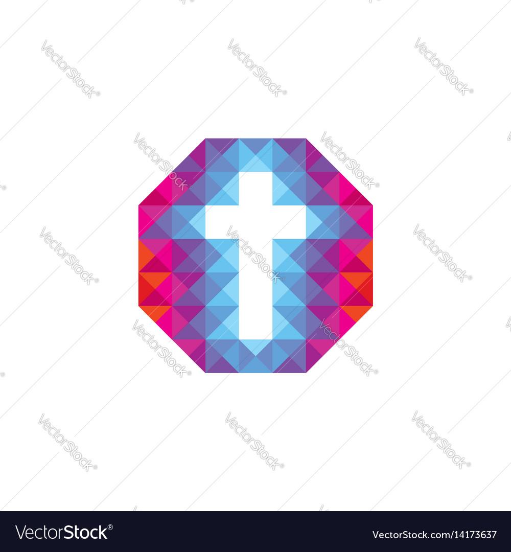 Christian logo vector image