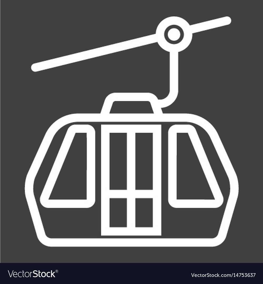 Funicular line icon travel and tourism