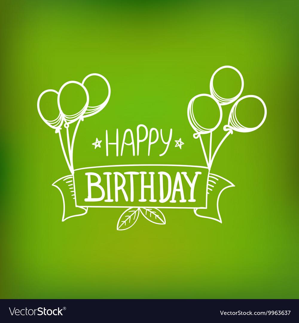 Hand-drawn greeting card Happy birthday