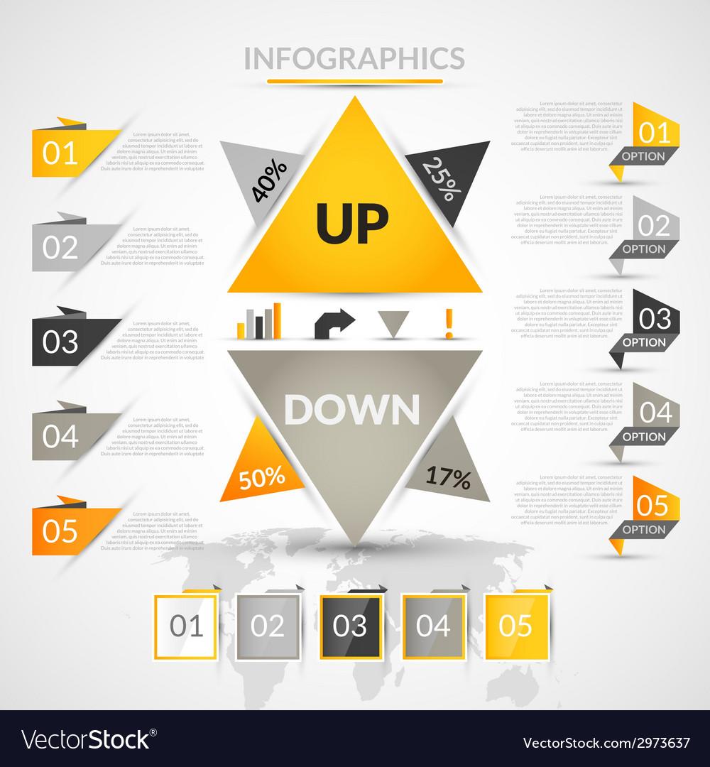 Origami infographic elements
