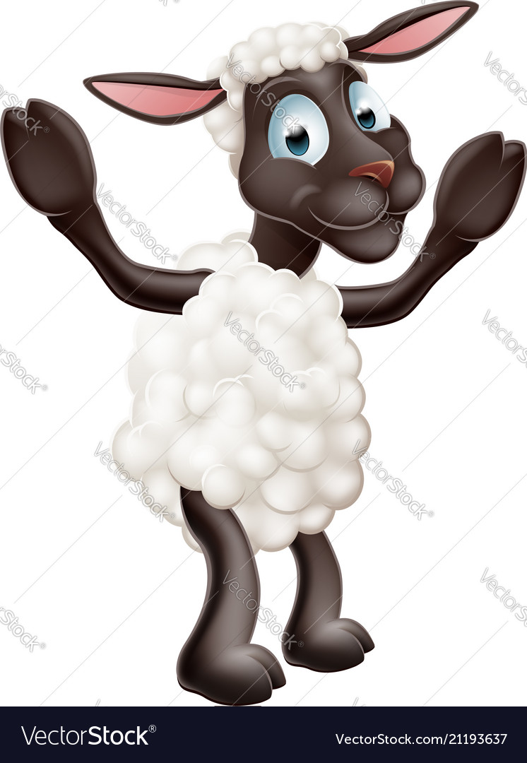 Sheep cartoon character