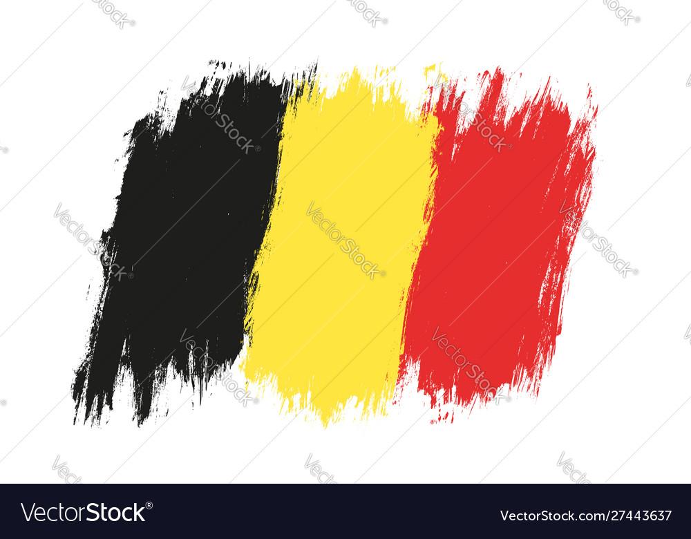 Vintage belgium flag