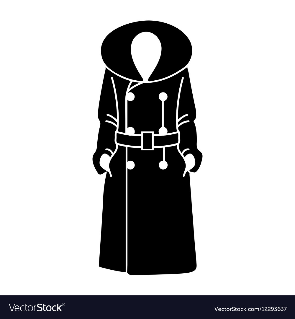Women coat icon on white background