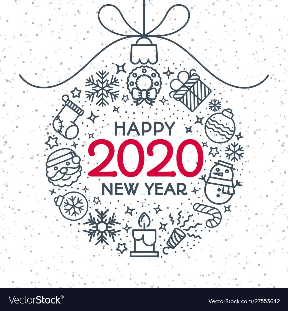 2020 christmas ball with holiday toys