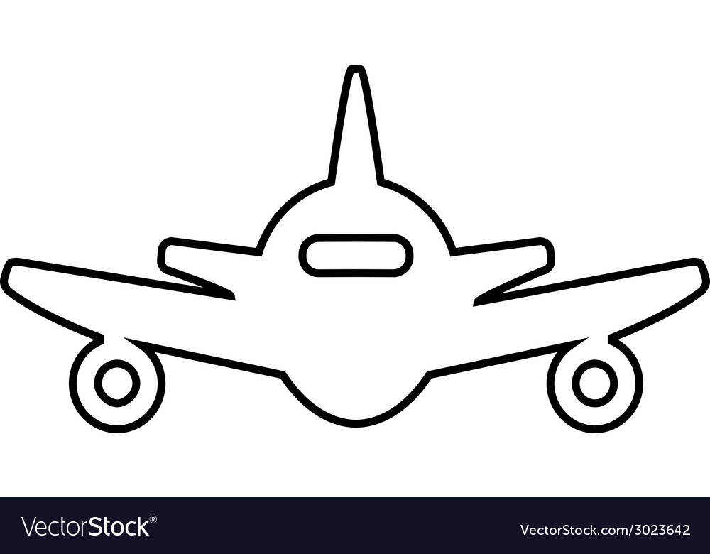 Abstract line plane icon