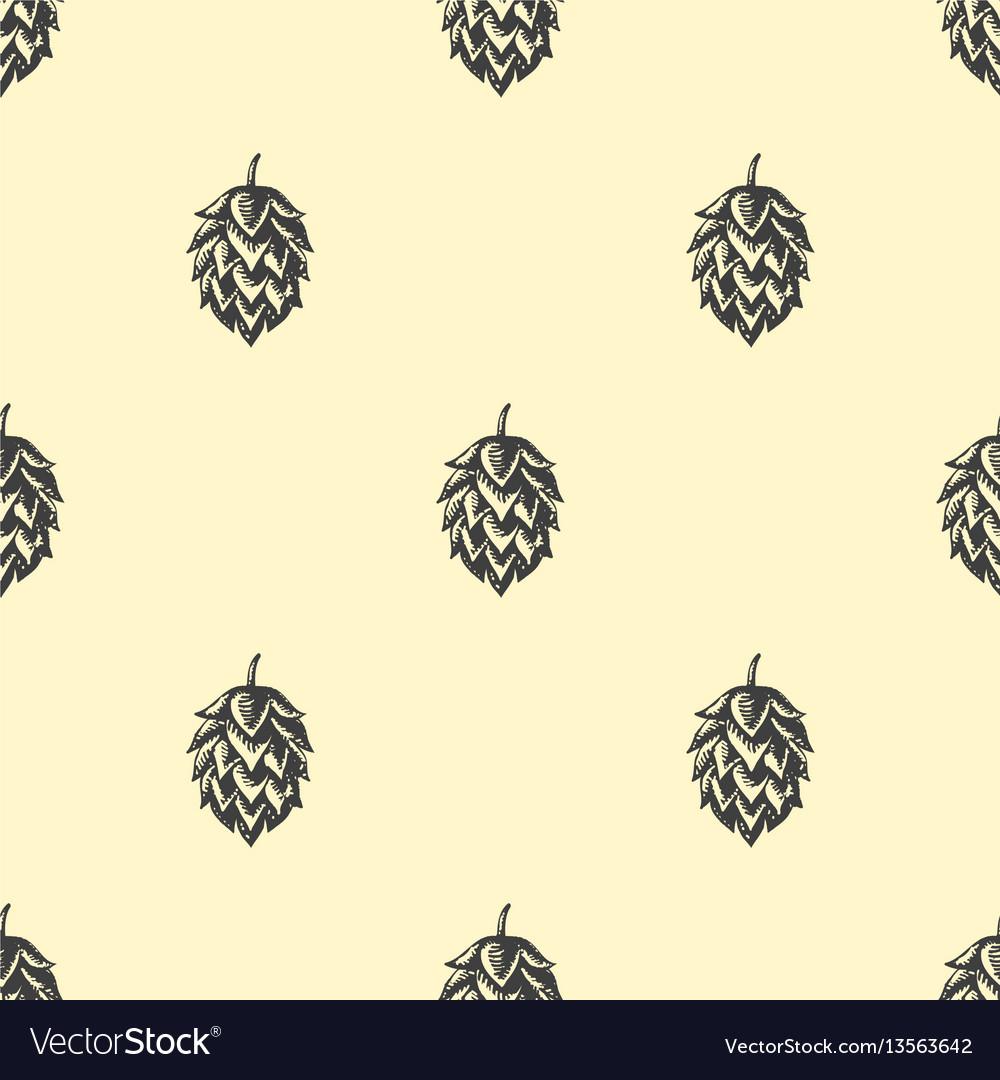 Hop beer seamless pattern background