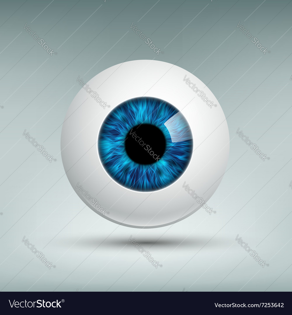 Human eyeball Stock