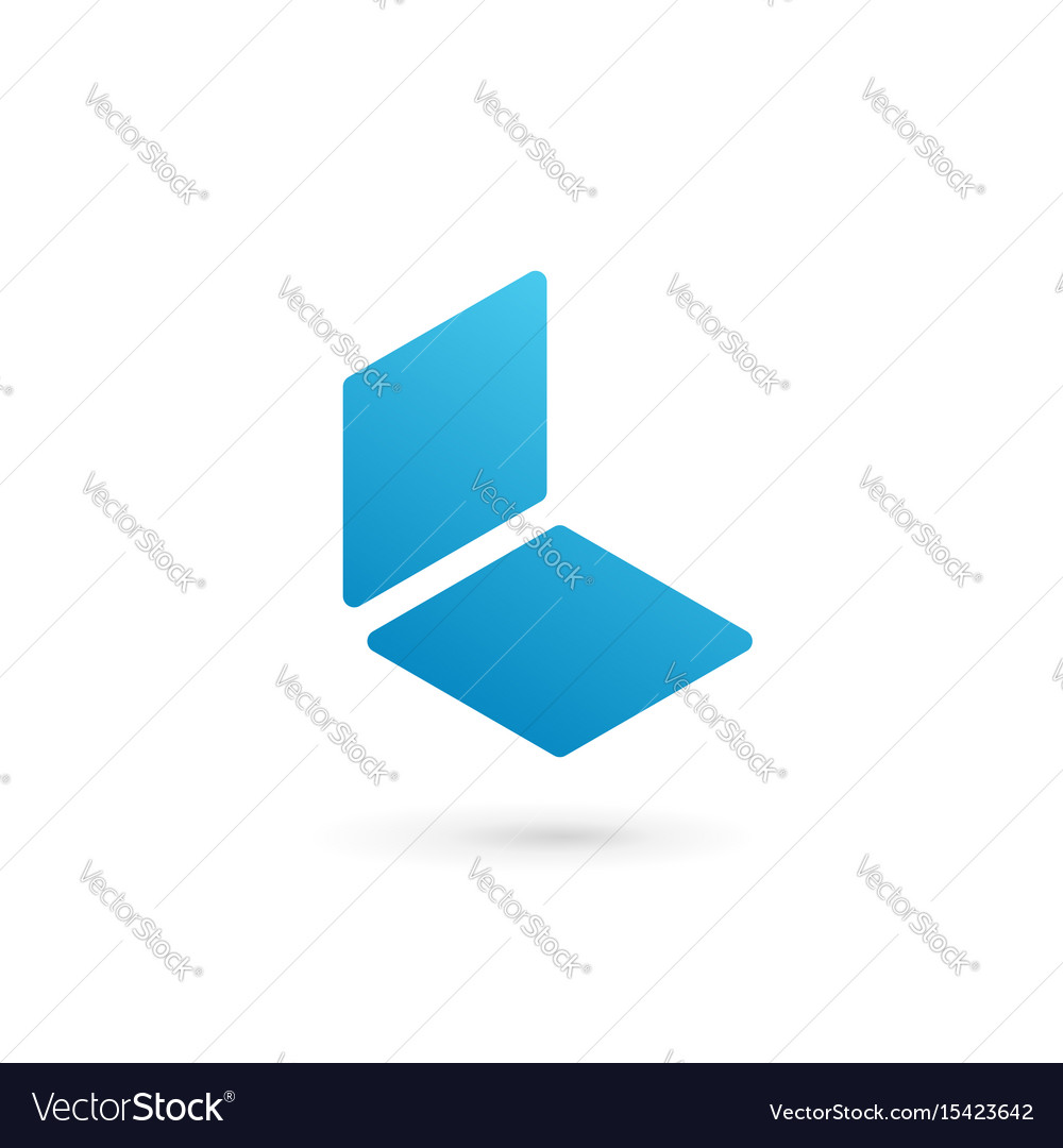 letter l notebook logo icon design template vector image