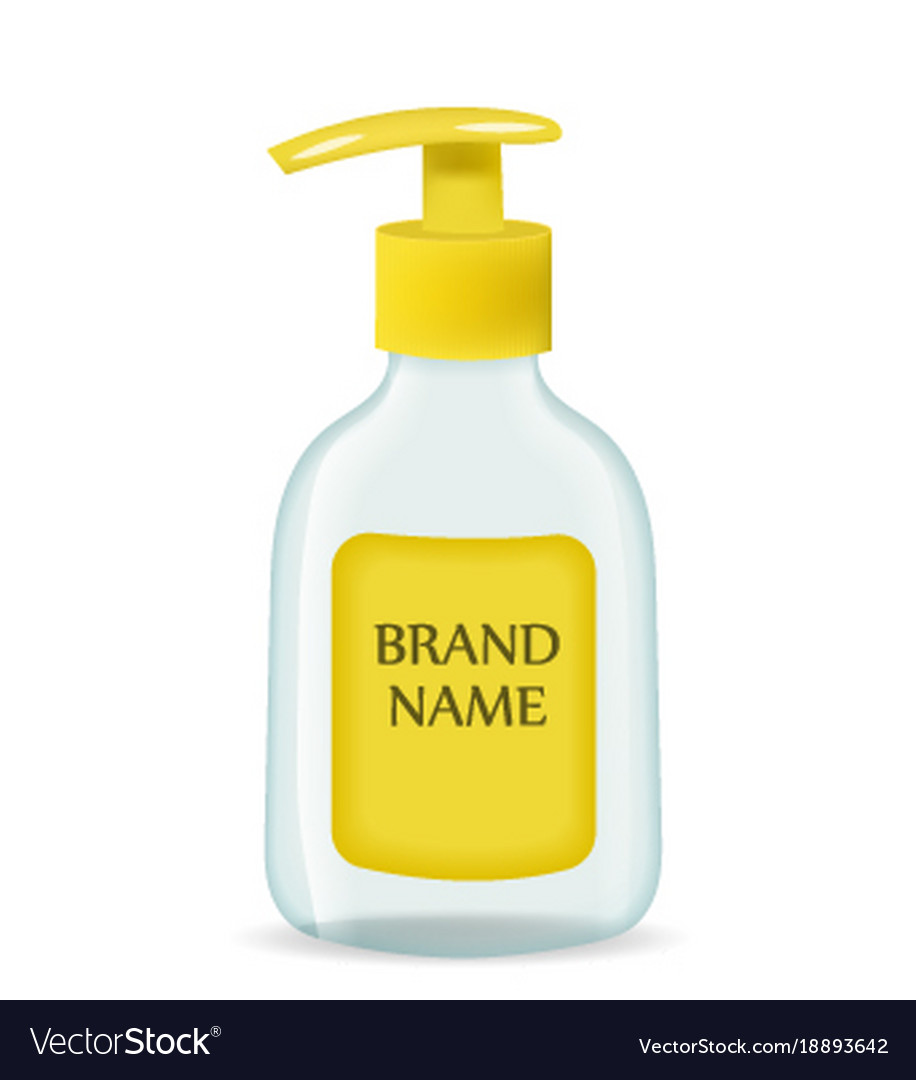 Liquid soap realistic packaging 3d bottle mock
