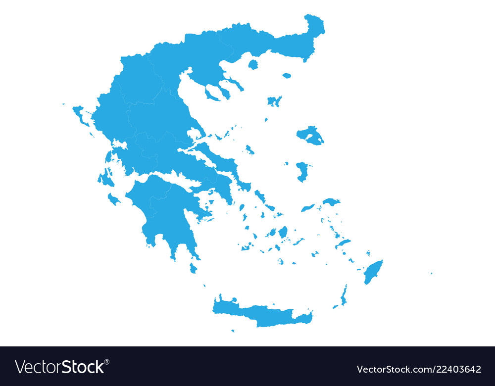 Map of greece high detailed map - greece