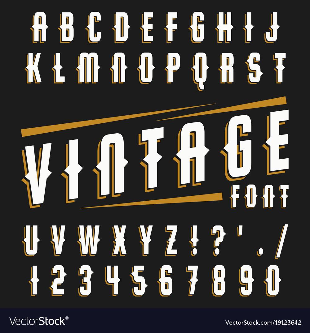 Set of vintage font