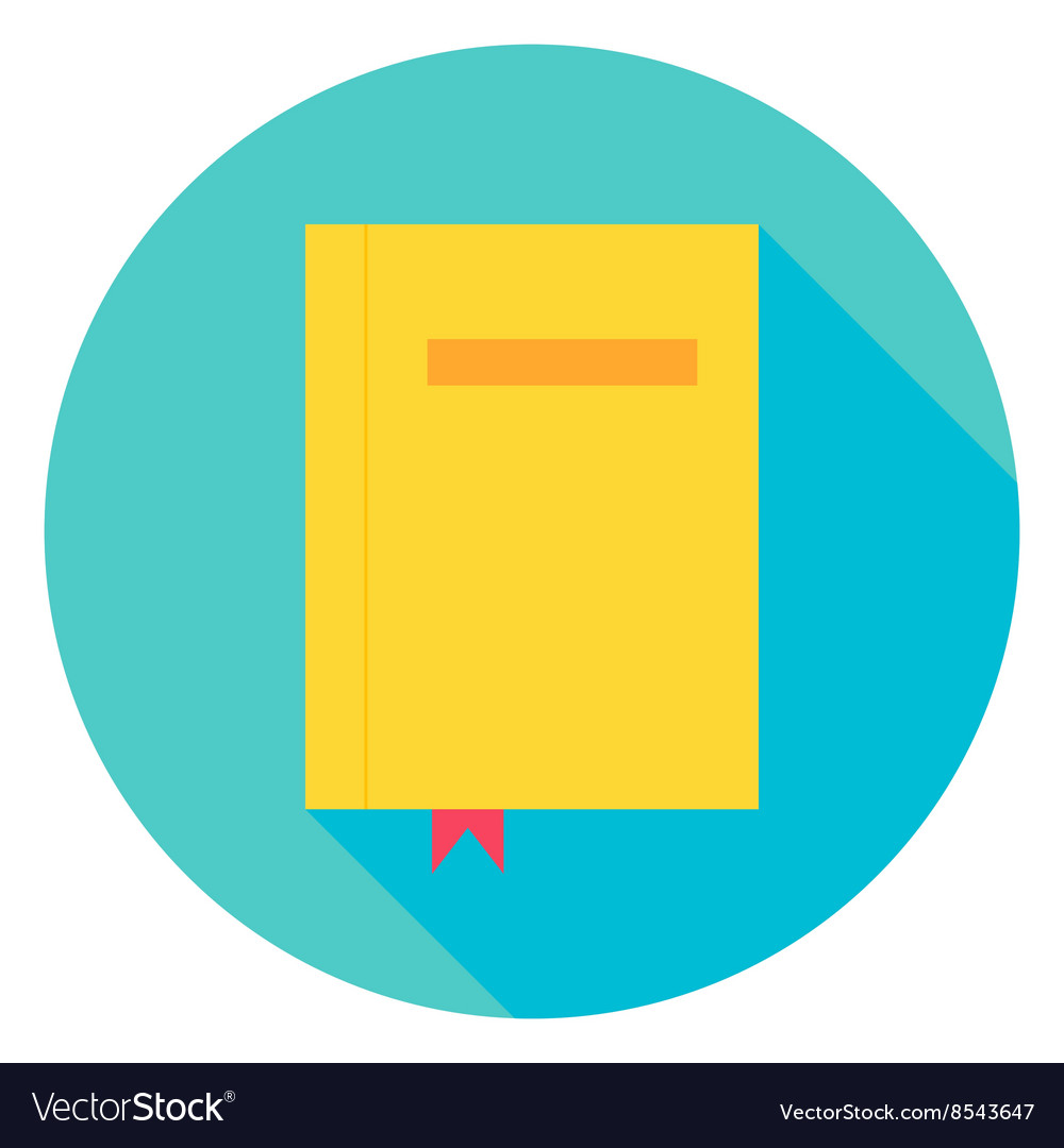 Book with Bookmark Circle Icon vector image