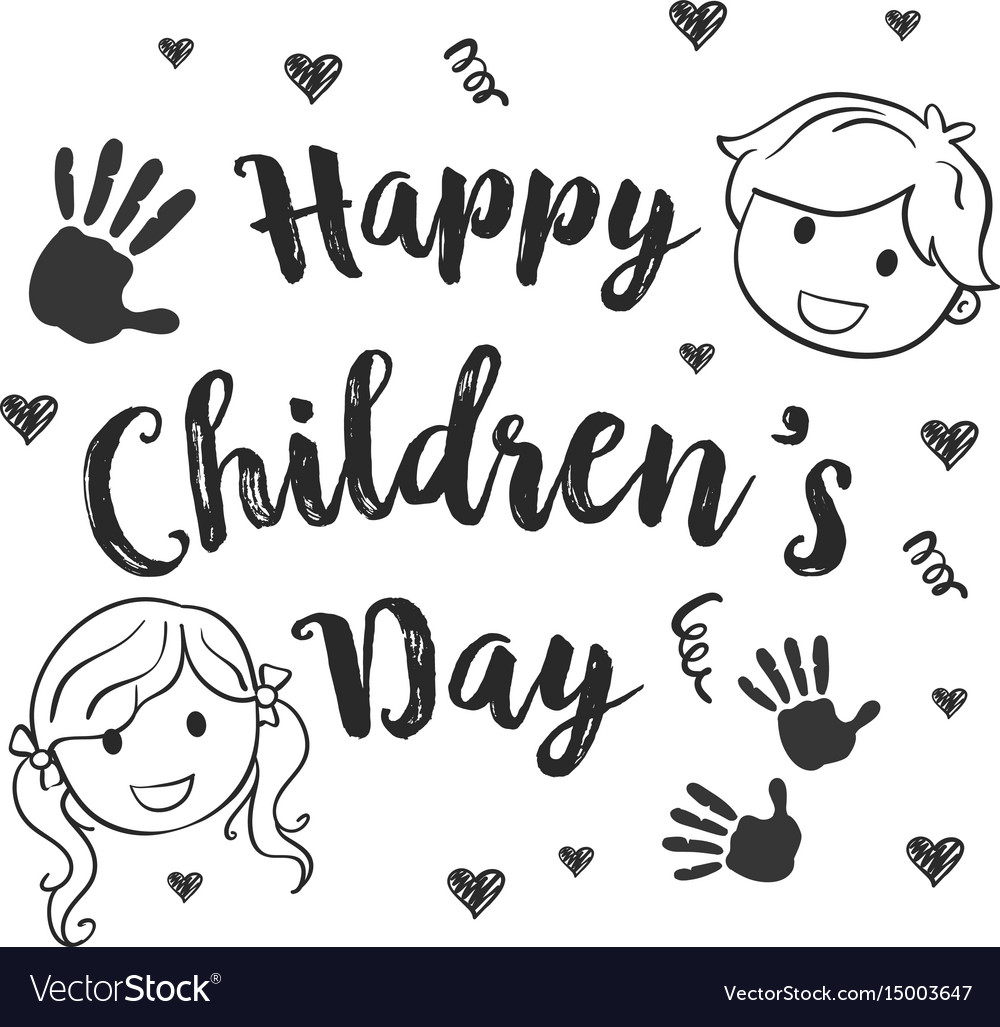 Collection Children Day Hand Draw Royalty Free Vector Image