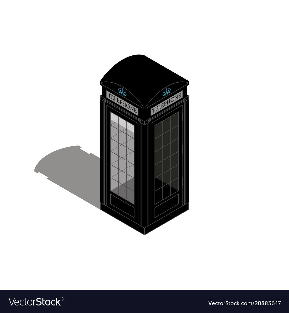 London phone booth isolated on whiteflat