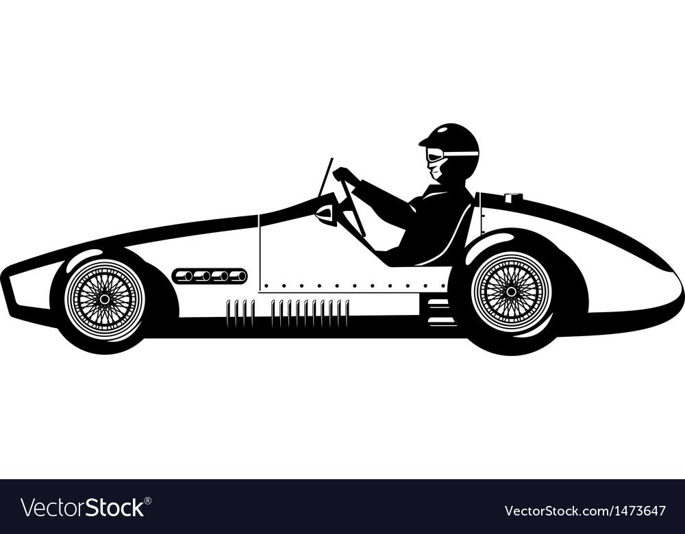 Old Sports Car Royalty Free Vector Image Vectorstock