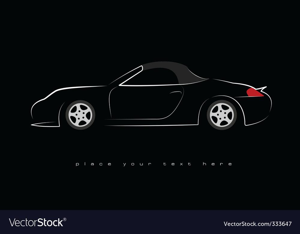 Sport scar silhouette vector image