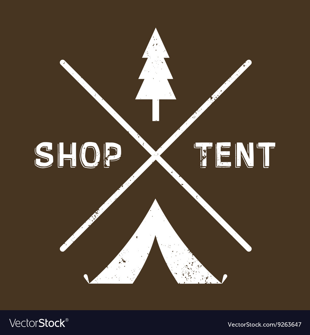 Vintage logotype of camping or shop