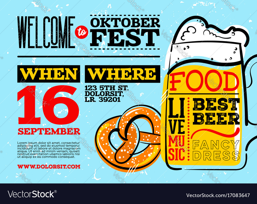 Welcome to oktoberfest poster horizontal