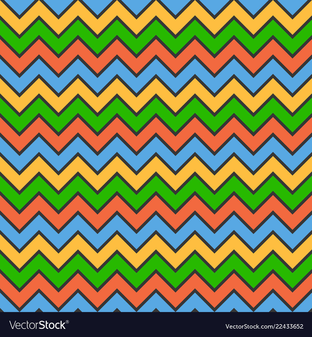 Abstract color zigzag wave pattern background