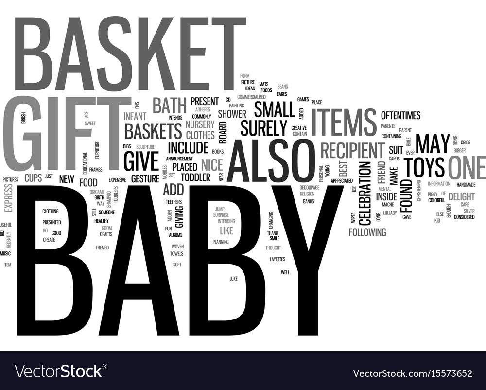Baby gift basket text word cloud concept vector image