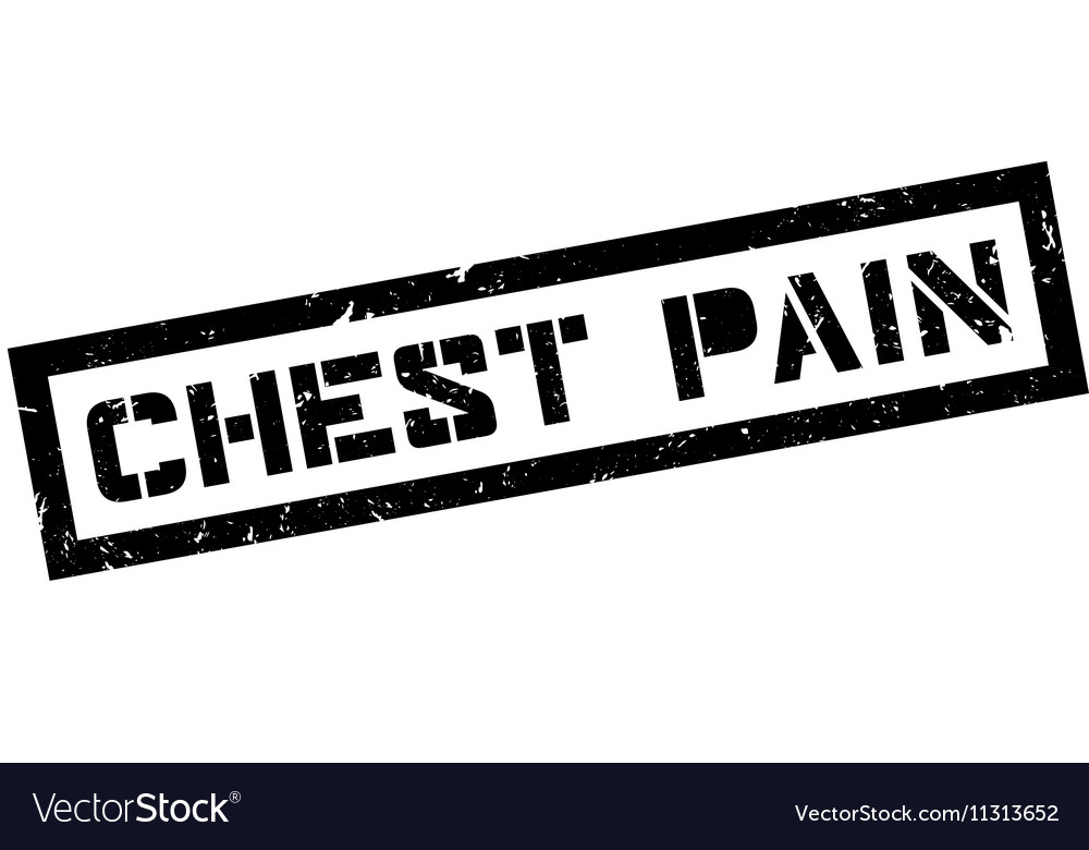 Chest Pain rubber stamp vector image on VectorStock
