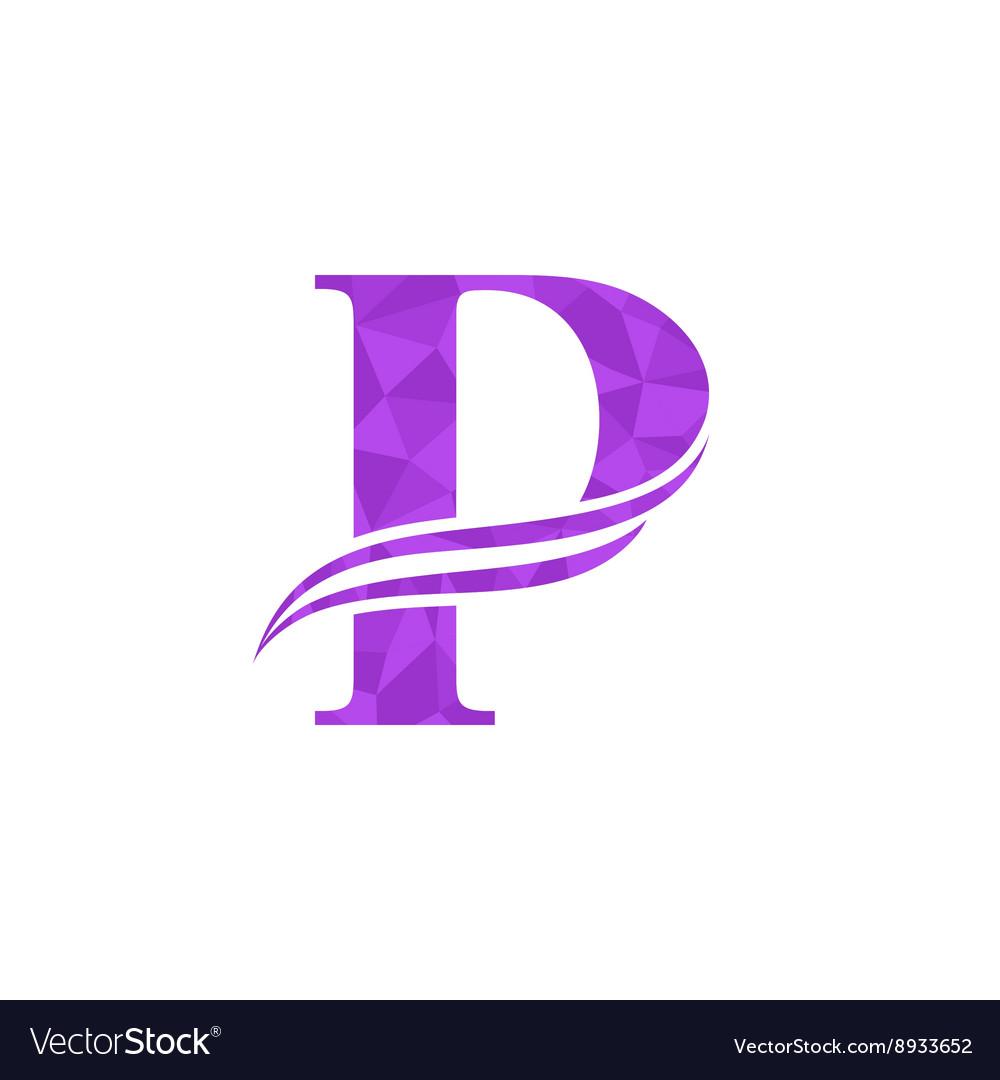dynamic logo letter p logo design template vector image