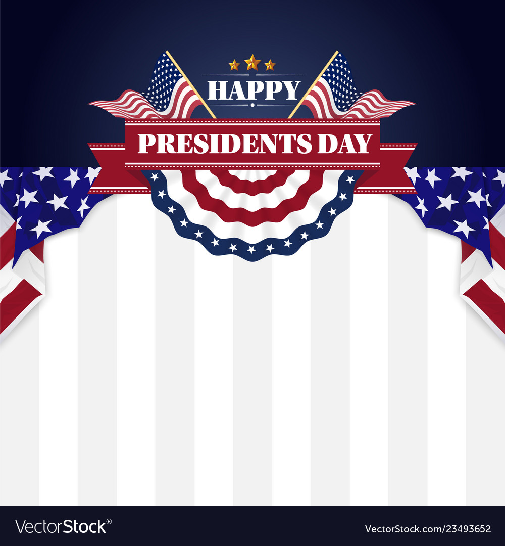 Happy presidents day banner background