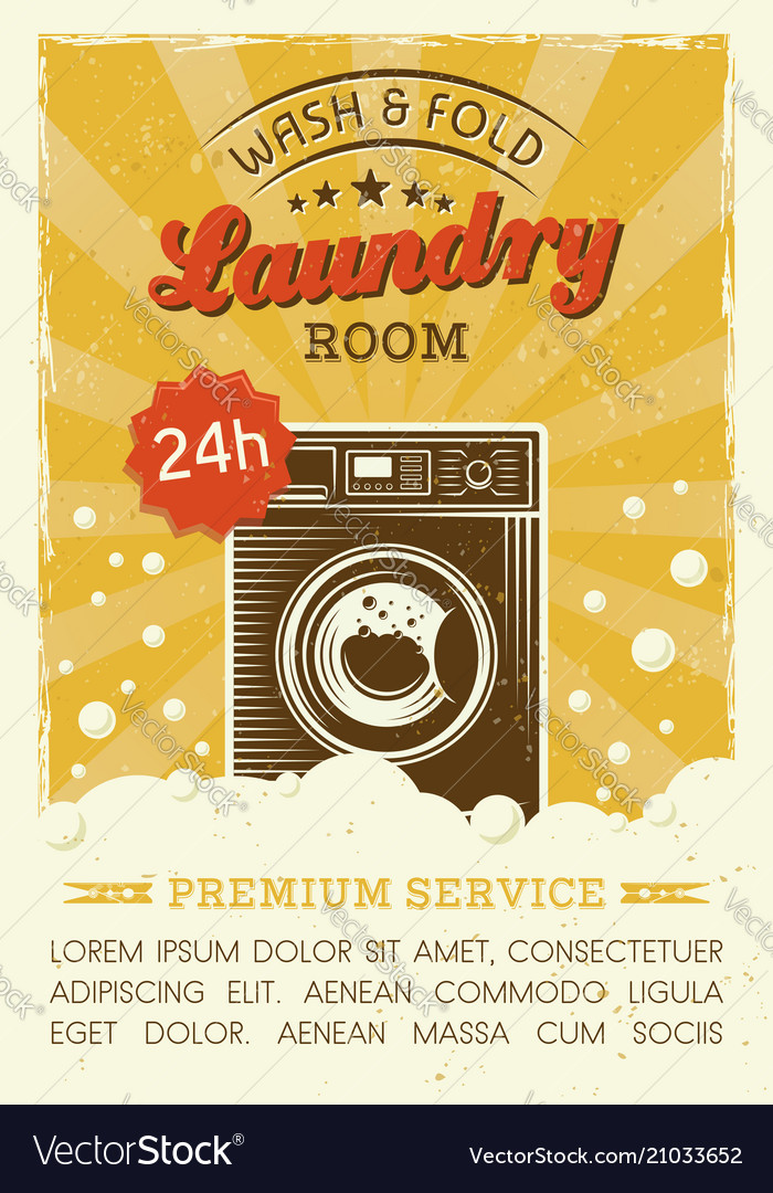 Laundry room poster with washing machine