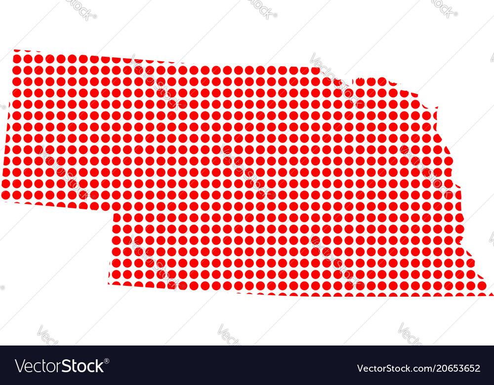 Red dot map of nebraska
