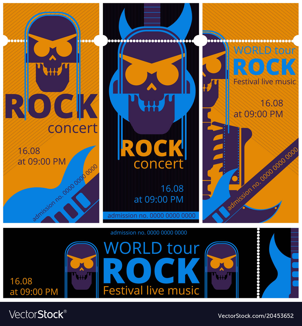 Rock music festival tickets