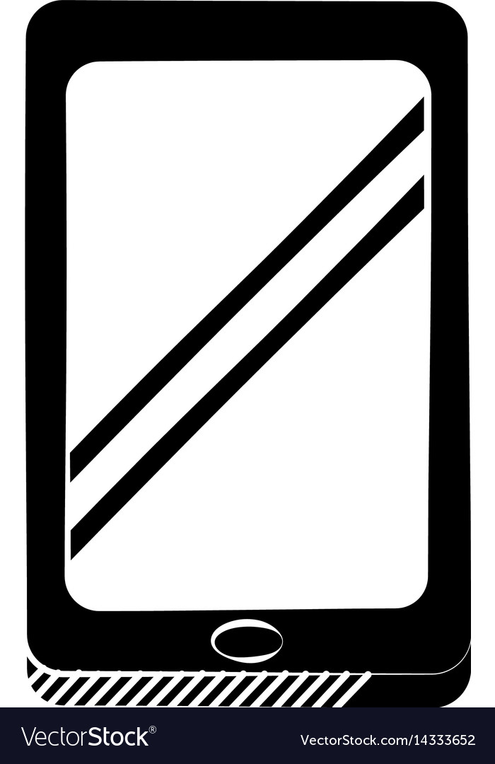 Smartphone technology communication pictogram