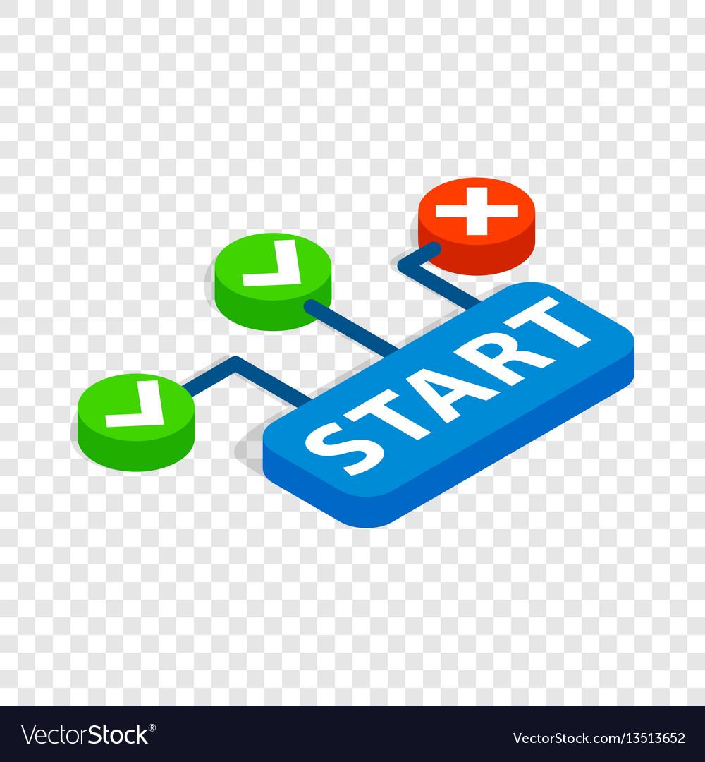 Start button isometric icon