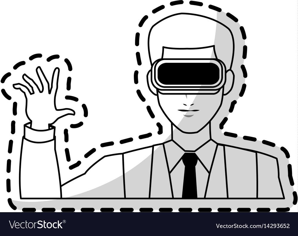 Virtual reality icon image