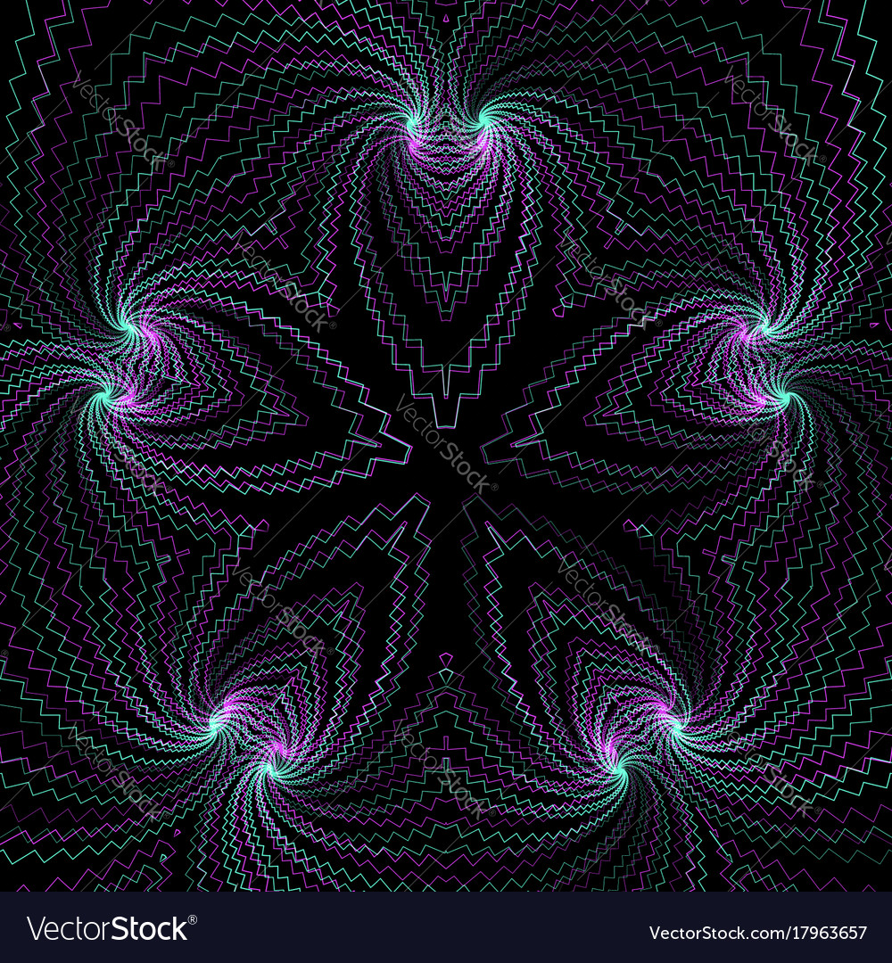 Abstract fractal geometry decoration